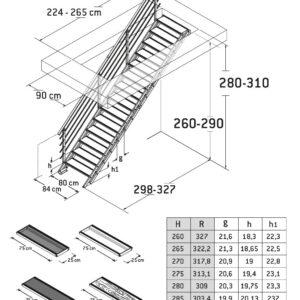 Alaska Straight Adjustable Staircase