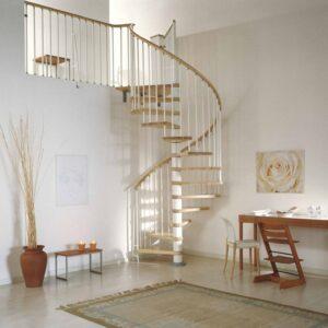 AR Natural Beech Spiral Staircase 120 cm